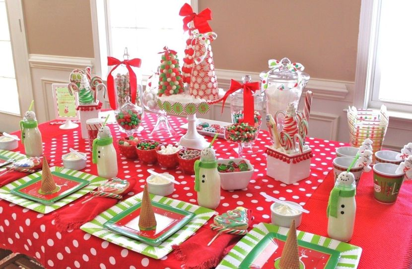 Candies For Christmas Table